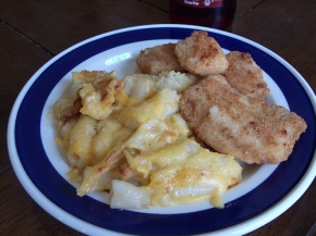 Gluten-Free Mac & Cheese Plus Chicken Fingers