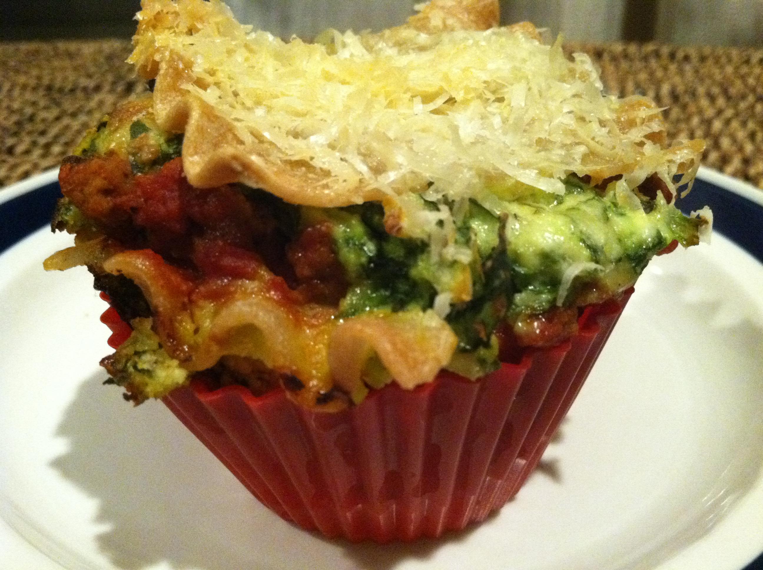 Gluten-Free Spinach Lasagna Cupcakes