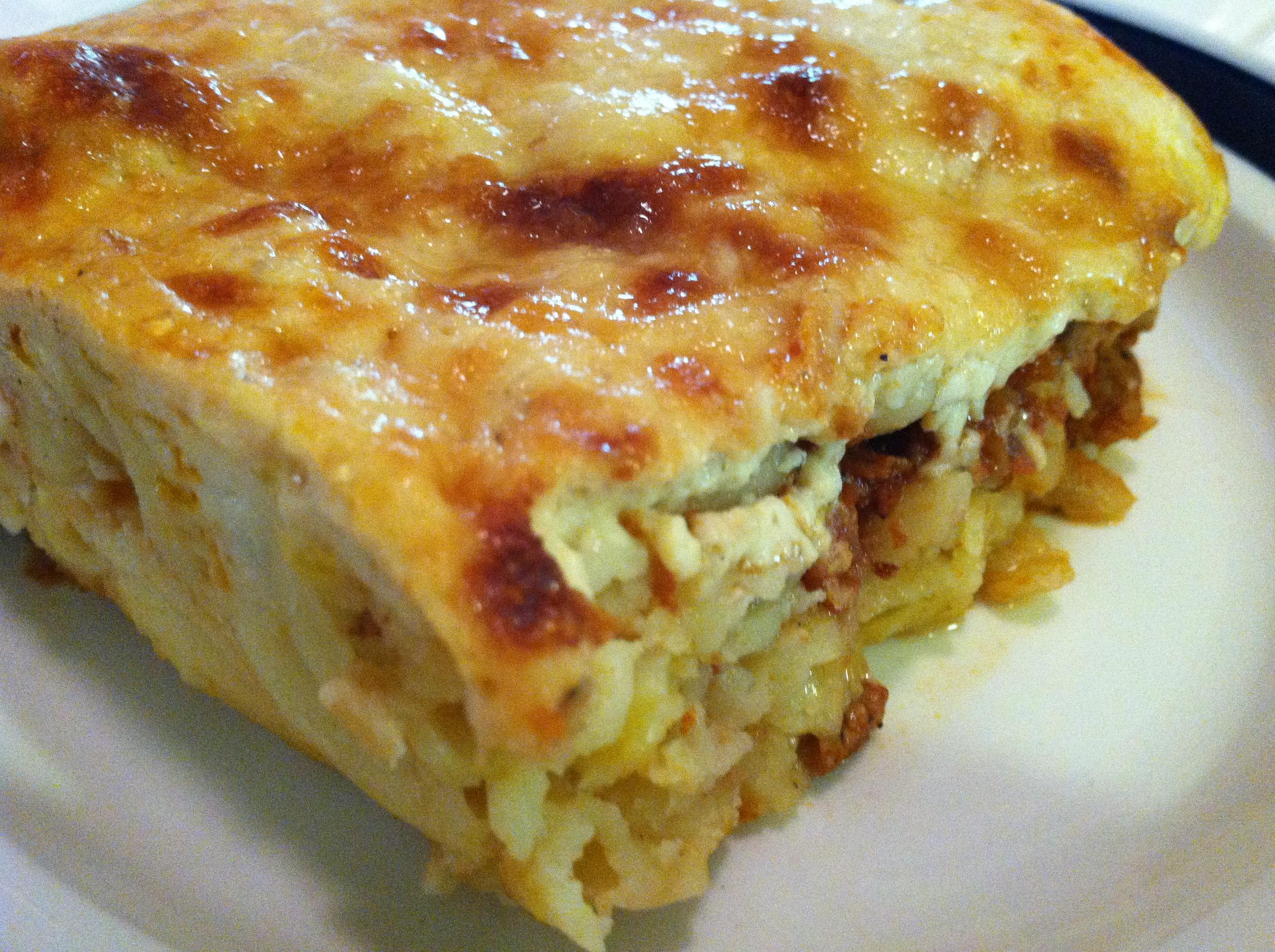 gluten-free greek lasagna