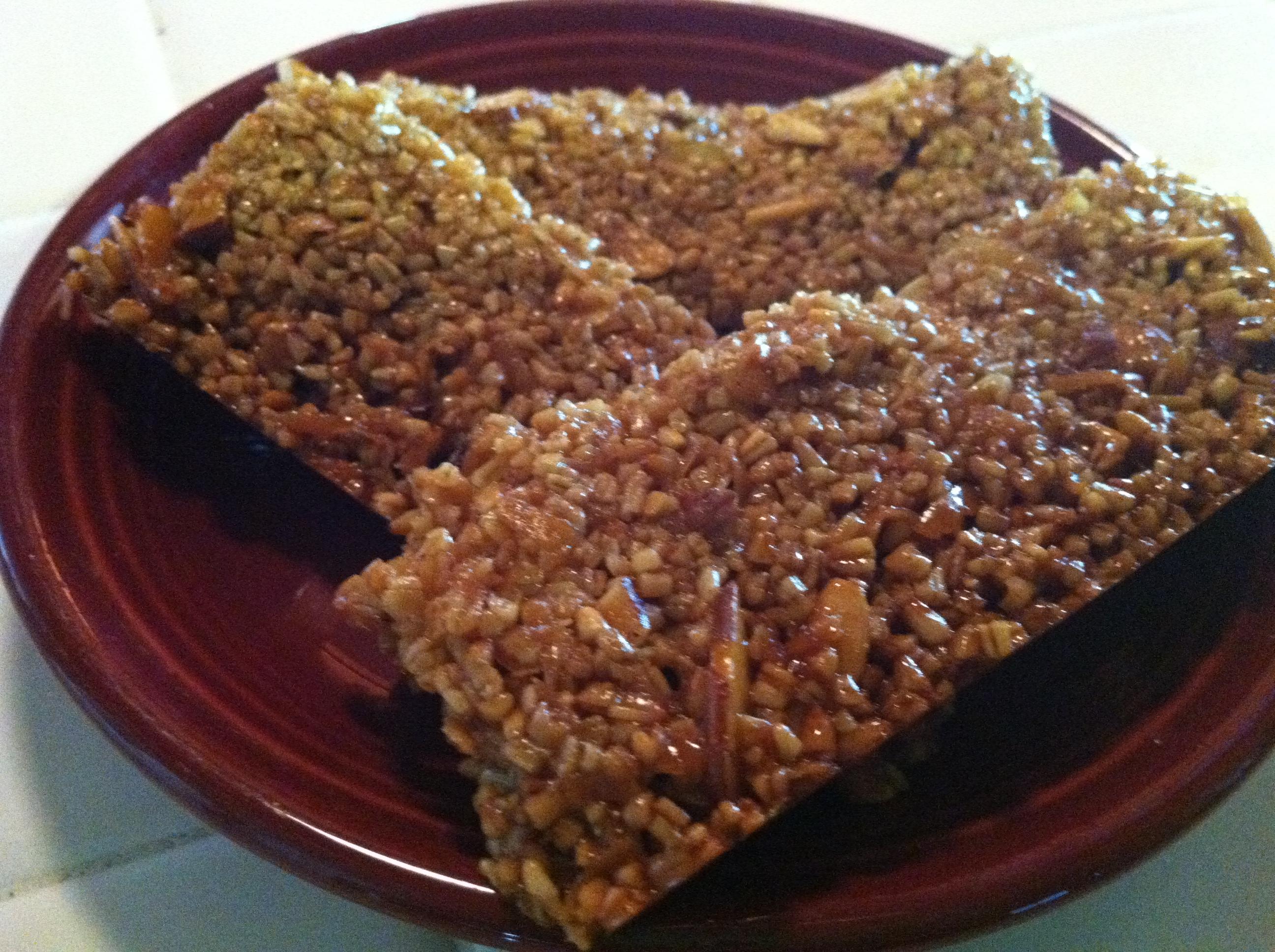 Gluten-Free Steel Cut Oat Granola Bars with Almonds ...