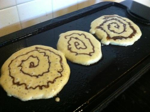 gluten-free cinnamon roll pancake