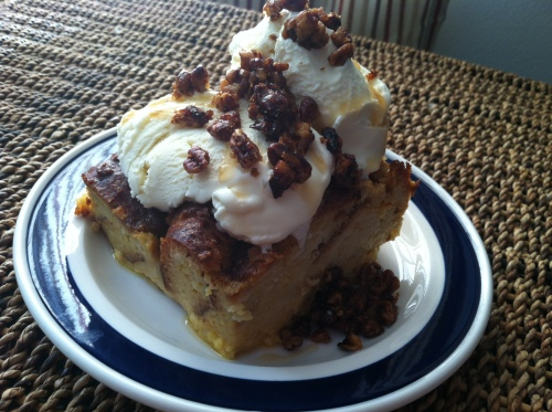 gluten-free pumpkin bread pudding